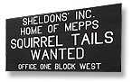 Squirrel Tails Wanted Sign
