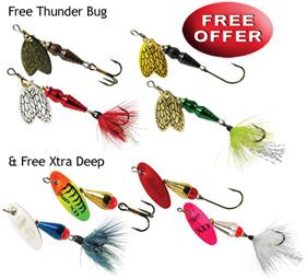Get a FREE Mepps Thunder Bug & Xtra Deep Spinner