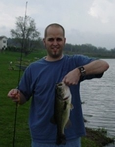 Photo of Bass Caught by Aaron with Mepps  in Iowa