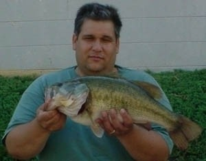 Photo of Bass Caught by Rex with Mepps Bass Pocket Pac - #3 Black Fury Dressed in Missouri