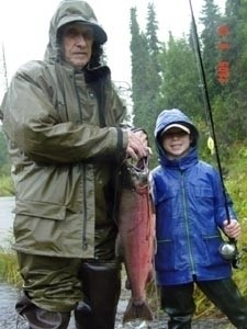 Photo of Salmon Caught by Lewis with Mepps Flying C in Alaska
