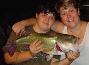Photo of Bass Caught by Labreeska & Jess with Mepps  in Georgia
