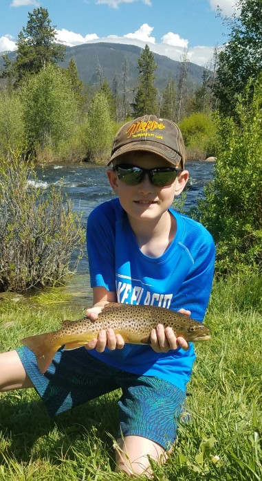 Photo of Trout Caught by Austin with Mepps Black Fury in Colorado