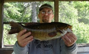 Photo of Bass Caught by Jeff with Mepps Syclops Lite in Canada
