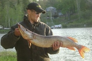 Photo of Pike Caught by Chad with Mepps Black Fury in Michigan