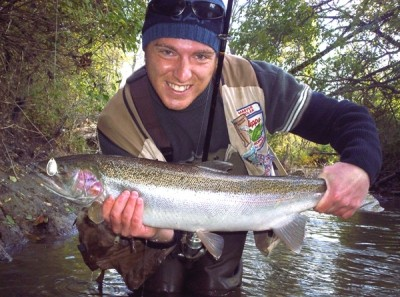 Photo of Ted's 10/29/08 Steelhead