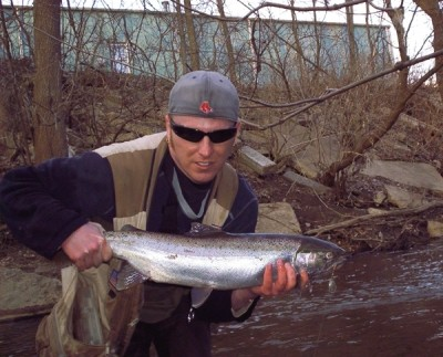 Photo of Ted's 3/20/09 Steelhead