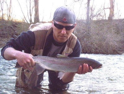 Photo of Ted's 4/11/09 Steelhead