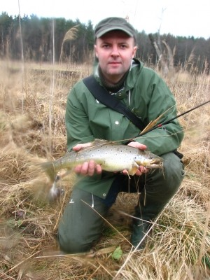 Photo of Trout Caught by Adomas with Mepps  in Lithuania