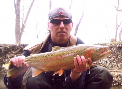 Photo of Steelhead Caught by Ted with Mepps Aglia & Dressed Aglia in United States