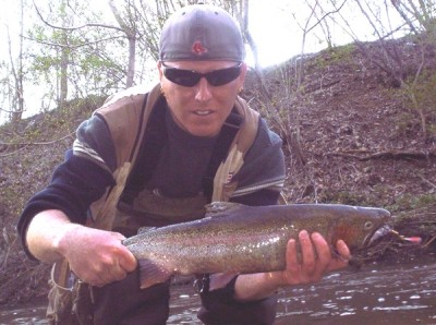 Photo of Ted's 4/22/09 Steelhead