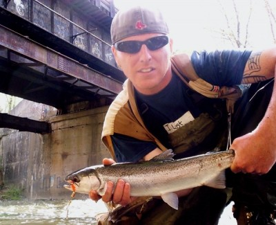 Photo of Ted's 5/3/09 Steelhead