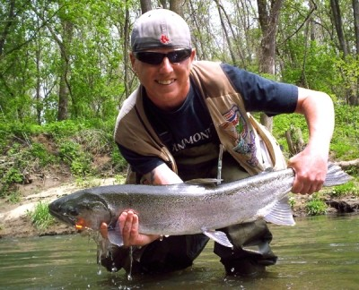 Photo of Steelhead Caught by Ted with Mepps Trophy Series in Indiana