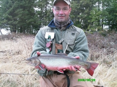 Photo of Trout Caught by Brian  with Mepps Aglia & Dressed Aglia in Ontario