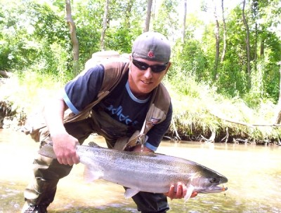 Photo of Steelhead Caught by Ted with Mister Twister Trophy Series in Indiana - Mister Twister