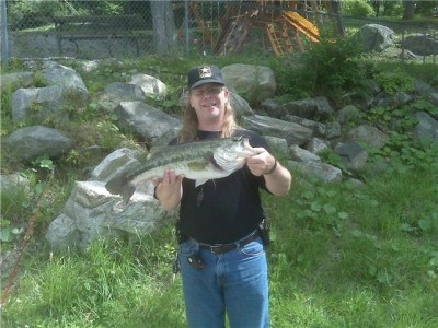 Photo of Bass Caught by Matthew with Mepps Aglia & Dressed Aglia in New Jersey