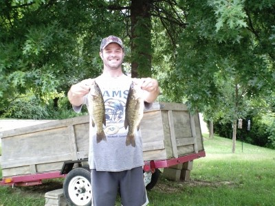 Photo of Bass Caught by Jeffrey with Mepps Aglia & Dressed Aglia in Missouri