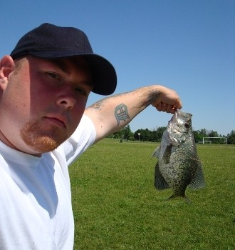 Photo of Crappie Caught by Kenneth with Mepps Aglia & Dressed Aglia in Michigan