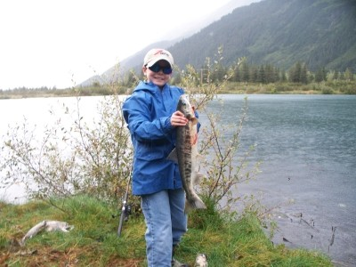 Photo of Salmon Caught by Zachary with Mepps Flying C in Alaska