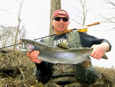 Photo of Ted's 3/9/10 Steelhead