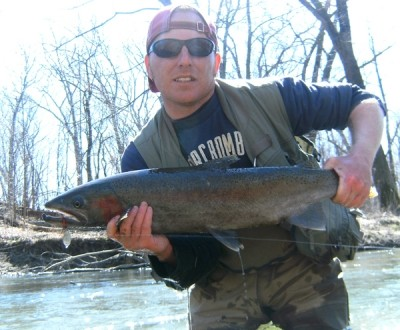 Photo of Ted's 3/26/10 Steelhead