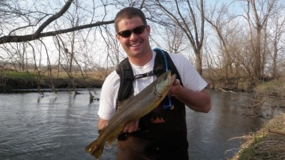 Photo of Trout Caught by Sam with Mepps Aglia & Dressed Aglia in Wisconsin - Mepps