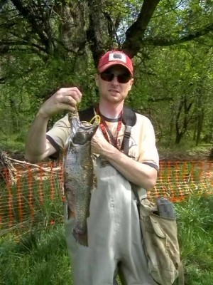 Photo of Trout Caught by Richard with Mepps  in Virginia