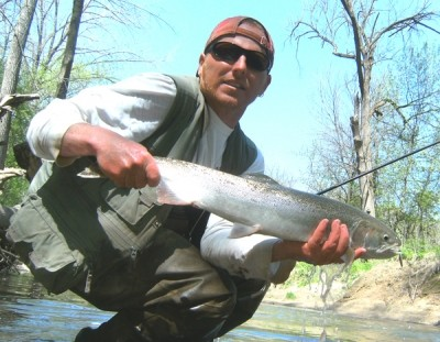 Photo of Ted's 4/17/10 Steelhead