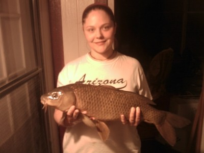 Photo of Carp Caught by Amber with Mepps Little Wolf in Idaho - Mepps