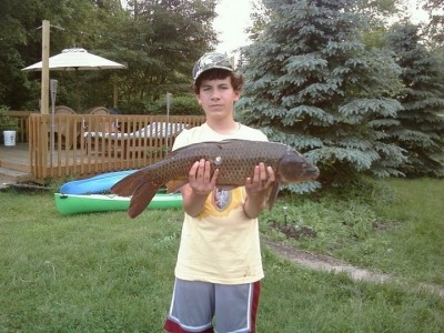 Photo of Carp Caught by Marcus  with Mepps Aglia Long in Michigan