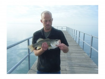 Photo of Bass Caught by Micheal with Mister Twister Aglia & Dressed Aglia in Michigan - Mister Twister