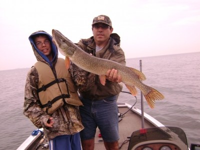 Photo of Pike Caught by Nick with Mepps Aglia Long in Michigan