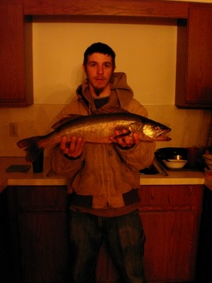 Photo of Walleye Caught by Jayme with Mepps Black Fury in Michigan