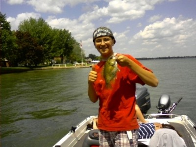 Photo of Bass Caught by Jacob with Mepps Aglia Ultra Lites in Michigan