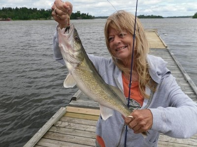 Photo of Walleye Caught by Becky with Mepps Aglia & Dressed Aglia in Ontario