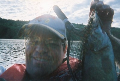 Photo of Bass Caught by William with Mepps Aglia Streamer in Vermont