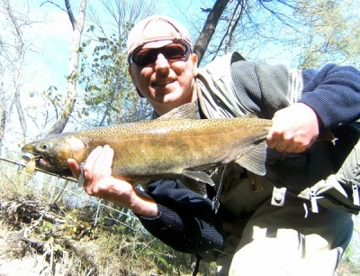 Photo of Salmon Caught by Ted with Mepps Aglia & Dressed Aglia in Indiana