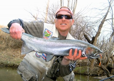 Photo of Ted's 3/18/11 Steelhead