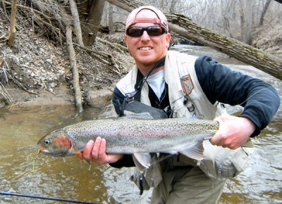 Photo of Ted's 3/24/11 Steelhead