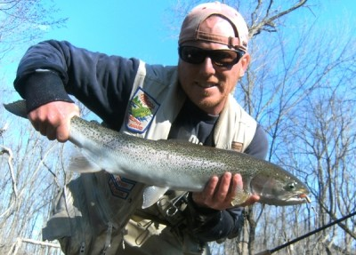 Photo of Ted's 4/2/11 Steelhead