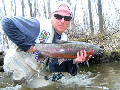 Photo of Ted's 4/8/11 Steelhead
