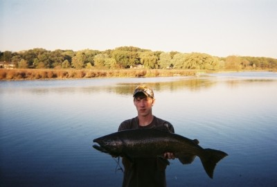 Photo of Salmon Caught by Nick with Mepps Black Fury in Michigan