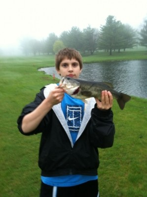 Photo of Bass Caught by Brett with Mepps Aglia & Dressed Aglia in Connecticut