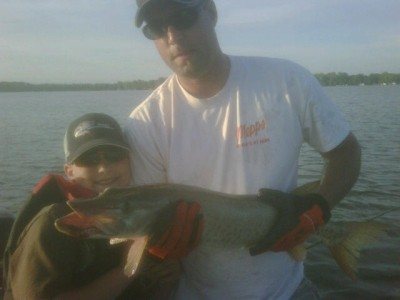 Photo of Musky Caught by Gavin with Mepps Comet Mino in Minnesota