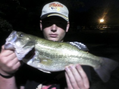 Photo of Bass Caught by James with Mister Twister Aglia & Dressed Aglia in New Jersey - Mister Twister
