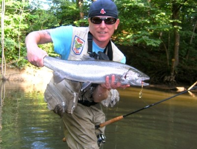 Photo of Ted's 7/22/11 Steelhead