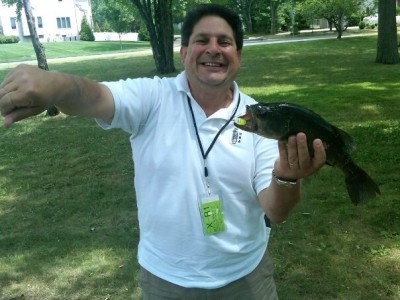 Photo of Bass Caught by Frank with Mepps Aglia & Dressed Aglia in New Jersey