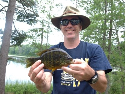 Photo of Bluegill Caught by Daniel with Mepps Black Fury in Michigan