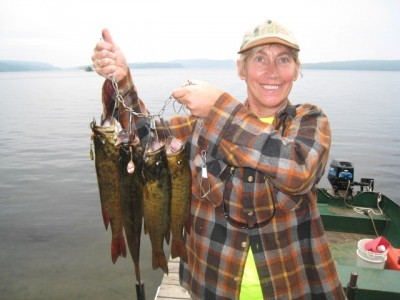 Photo of Bass Caught by Cindi with Mepps Black Fury in Ontario