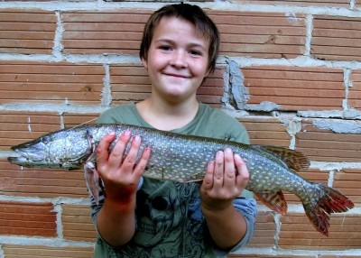 Photo of Pike Caught by Jordan with Mepps Black Fury in Wisconsin